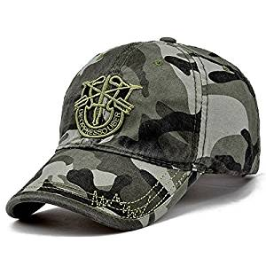 Get Quotations · US Army Logo Military Cap navy Baseball Hats Special Force  Tactical CAP HAT w US 4d407658a12