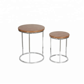 Round Modern Nest Table Gl Top Coffee Side Set