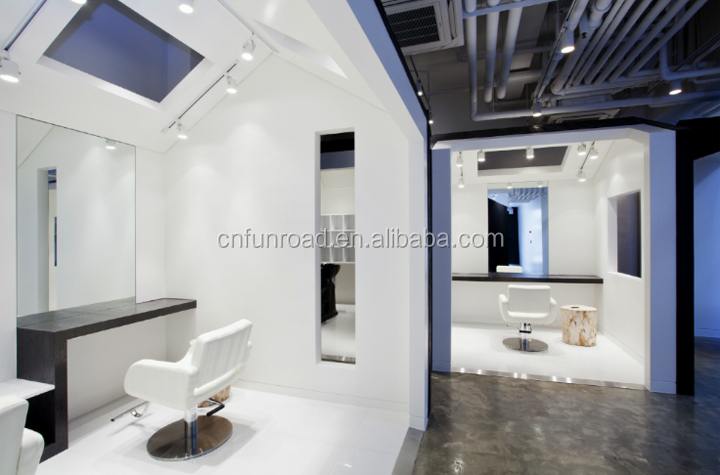 custom high end hair store display furniture interior design