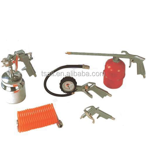 DIY most popular garage tool air compressor basic 5pcs spray gun/air tools kit/set AK-1