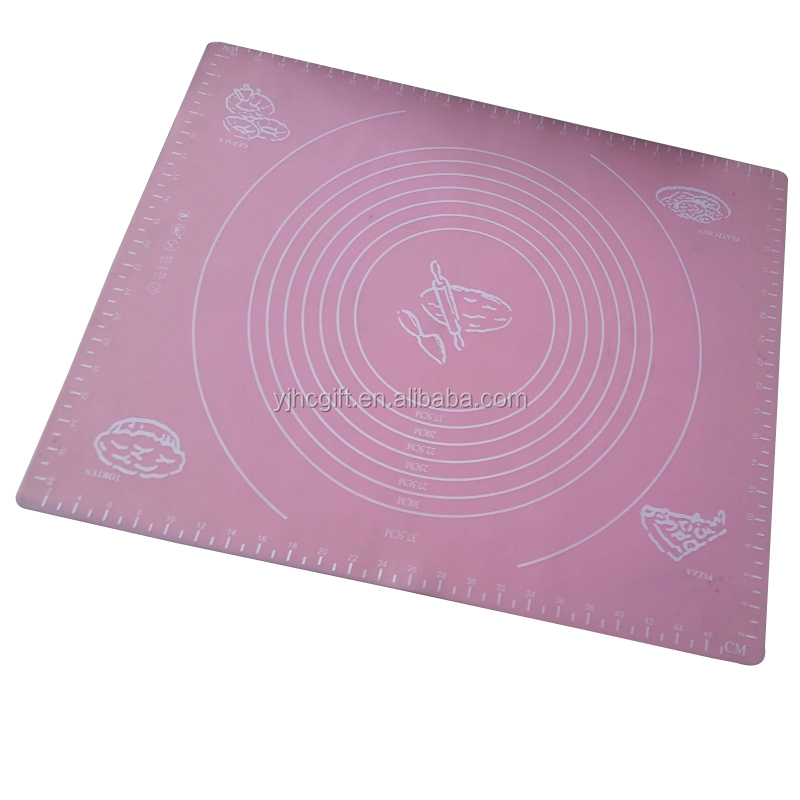 Large Massive Pastry Fondant Silicone Work Rolling Baking Mat with Measurements