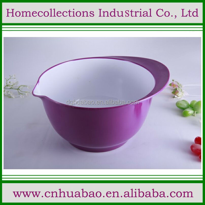 purple melamine mix pot sala bowl