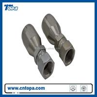 swaged Silver Zinc carbon steel hydraulic fitting run tee