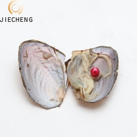 2019 Freshwater Dyed Pearl Oyster 6-8mm AAA Grade love pearl necklace oyster for Mothers Day Gift Free Shipping