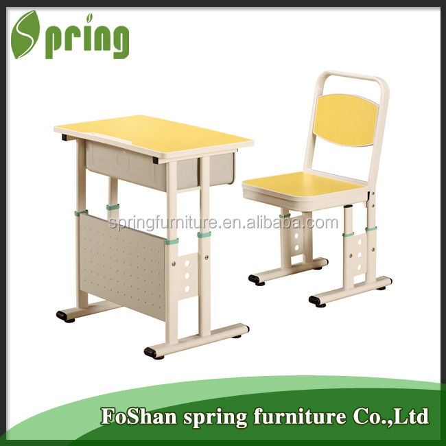 KZ-11 China made simple used classroom student desks children attached school desks and chair