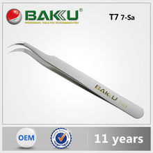 2016 new BAKU High quality T7 7-Sa AntiMagnetic Precision Curved Tip Tweezer for industry