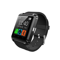 Factory wholesale stylish sport fitness led bluetooth smart wrist watch mobile phone android mtk u8 smartwatch
