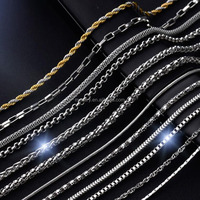 New Gold Design Custom 304 316 1-10MM Men Girls Necklace Ball Snake Cable Box Cuban Link Chain Jewelry Stainless Steel Chain