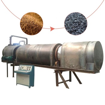 Wood sawdust charcoal rotary carbonization furnace carbonized rice husks