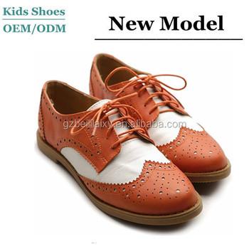 Women s Flat Shoe Wingtip Lace Up Two Tone Oxford Teenage Girls School Shoes 9caefda394