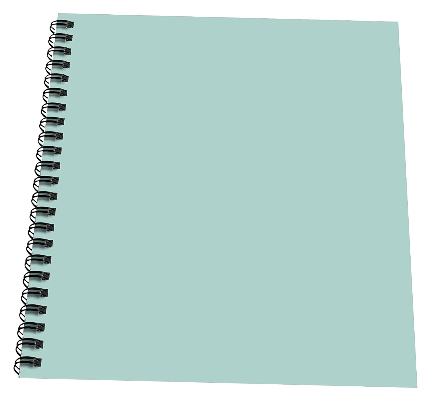 "3dRose db_159844_2 Plain Mint Blue Solid Color Light Turquoise-Grey-Gray Modern Contemporary Simple Pastel Teal Memory Book, 12"" x 12"""