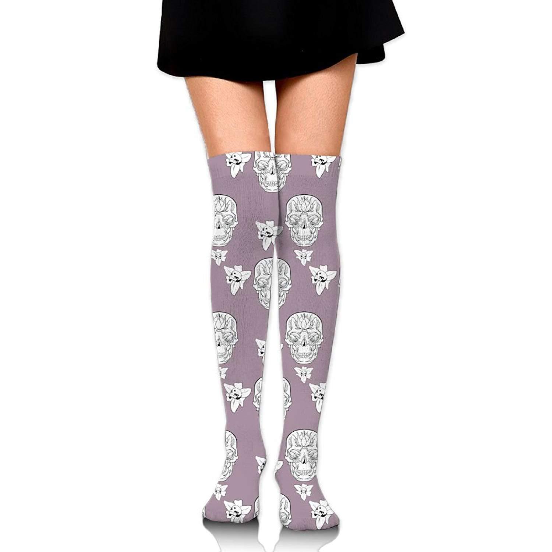 Zaqxsw Skull Women Vintage Thigh High Socks Long Socks For Womens