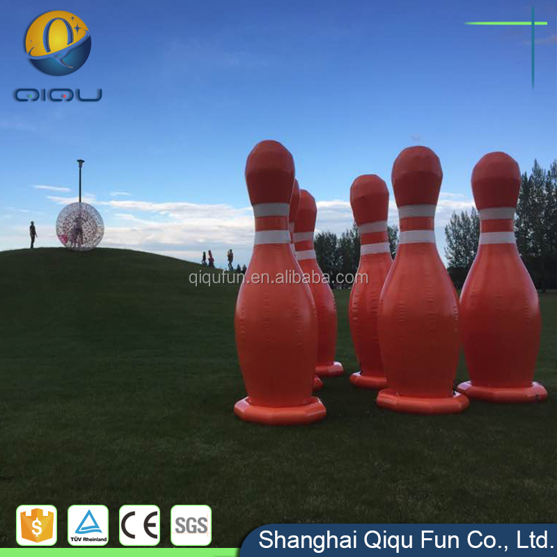 Chinese inflatable factory high quality PVC/TPU material inflatable zorb ball for bowling pin sport games