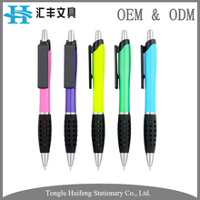 HF5212C custom logo office stationery rubber grip promotional plastic ballpoint pen