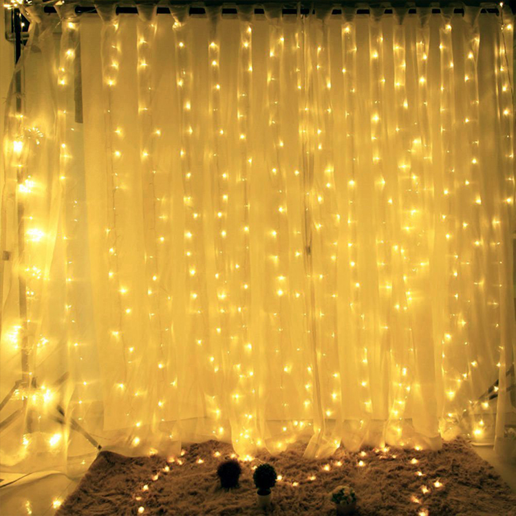 Goedkope Decoratieve Waterval Led Gordijn String Light
