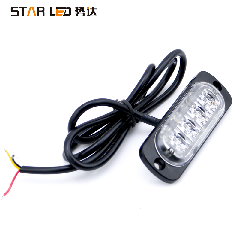 Vehicles 12v Amber Emergency Warning Light Strobe LED light for Truck