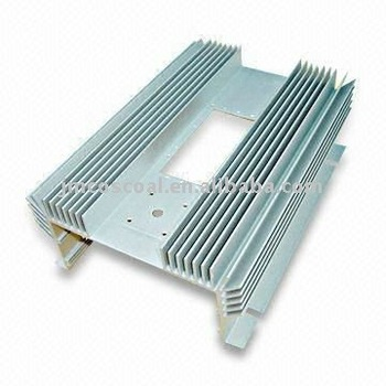 Aluminium profile for car amplifier with anodizing