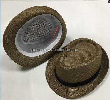 ce368450c13db6 Cheap Wholesale Panama Fedora Mens Paper Straw Hat Trilby Fedora Hat ...