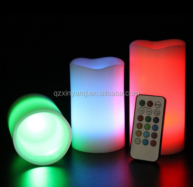 Hot Sale 3*AAA Christmas Flameless Led Remote Control Candles For Birthdays