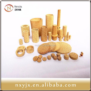 porous bronze/brass powder filter disc