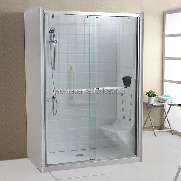 Y669 Glass Sliding Door Enclosed Toilet Aluminium Shower