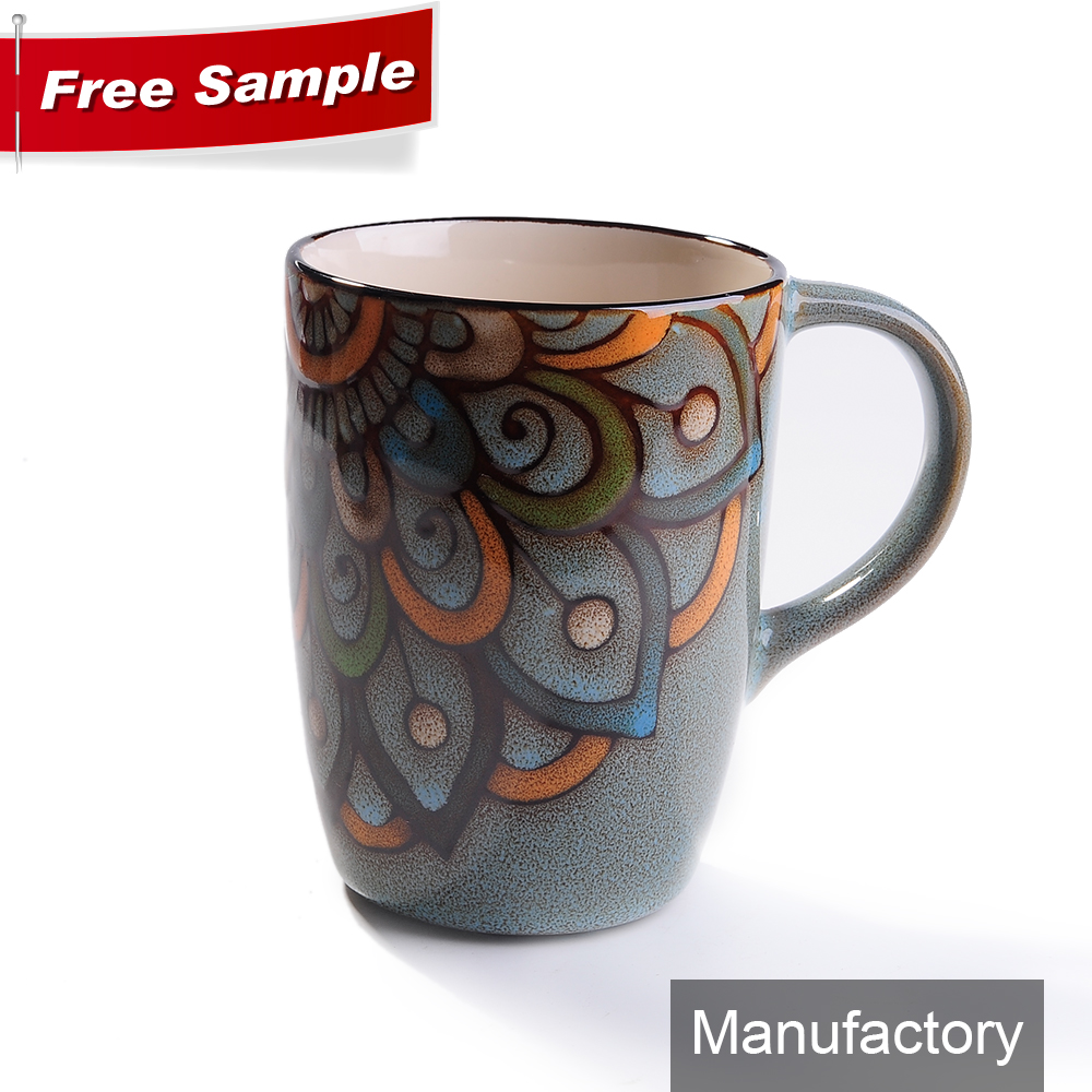 high quality 13oz custom stoneware colors glazed mug