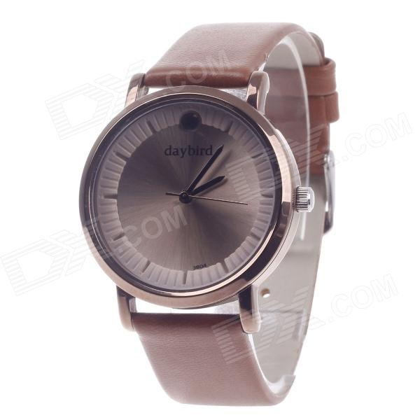 Daybird 3804 Fashion Brief Lady Girl Quartz watch Luxury Causal Wrist Watches Women Students top brand Brown PU leather Watches