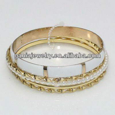 Wholesale Enamel Stackable Bangle from Yiwu Gania Jewelry Factory