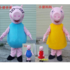 New style plush pig cartoon character costumes/Pink Pig Character Costume for activity