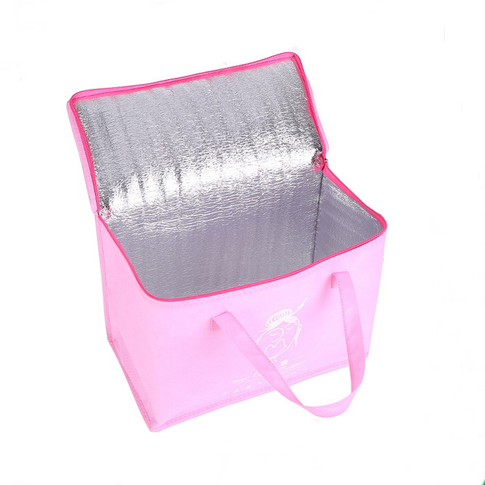 New folding non woven thermal soft cooler lunch bag/outdoor picnic hiking hot food beverage cooler bag