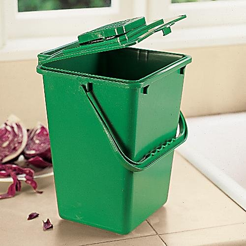 Get Quotations · Large Kitchen Compost Bucket: 2.5 Gallon Compost Bin  (Includes Filter)