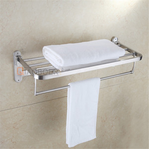 Bathroom accessories type wall mounted folding stainless steel towel rack