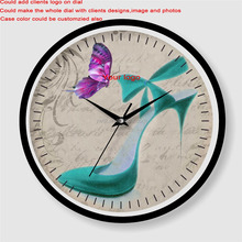 Wholesale cheap price customized shabby chic art wall clock