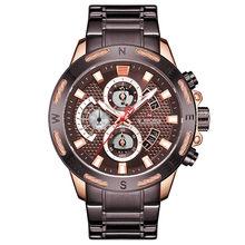 NAVIFORCE мужские часы лучший бренд модные спортивные часы мужские водонепроницаемые Роскошные Кварцевые наручные часы Мужские часы с датой ...(Китай)
