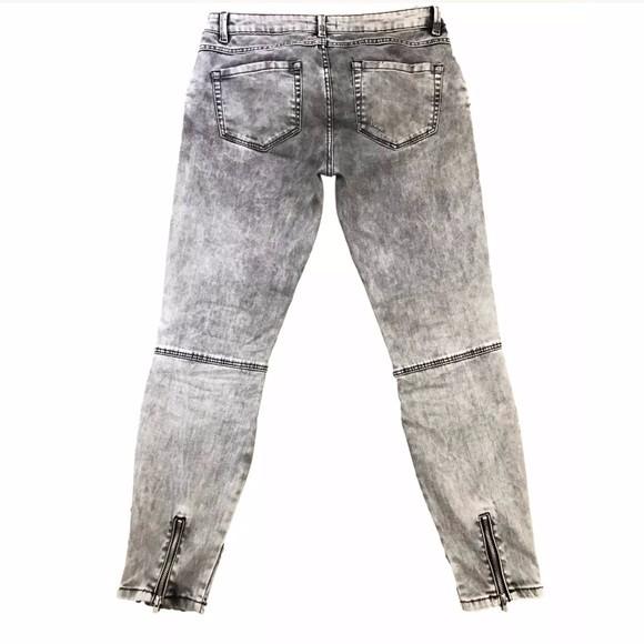 Royal Wolf Denim Jeans Fabricante Mujeres Gris Con Cremallera Negro ...