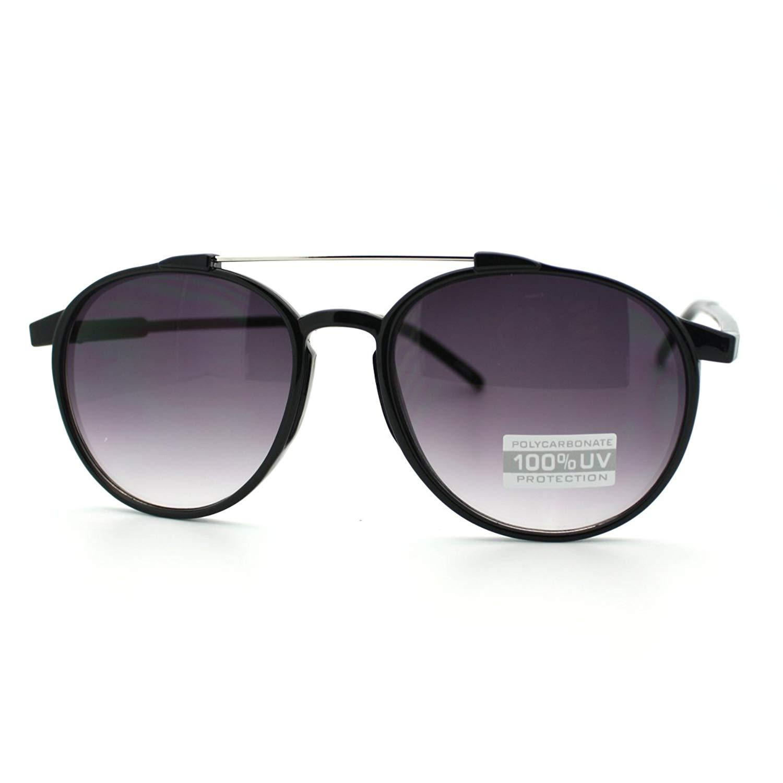 6fffe1d063c Get Quotations · Plastic Frame Tear Drop Shape Aviator Keyhole Sunglasses  with Metal Double Bridge