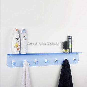 High Quality Wall Mounted Acrylic Bathroom Shelf