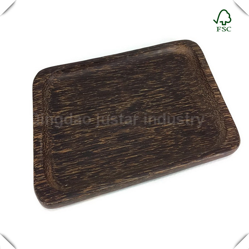 Japanese style Wood Serving Tray , Custom Logo Tea Tray For Home Kitchen