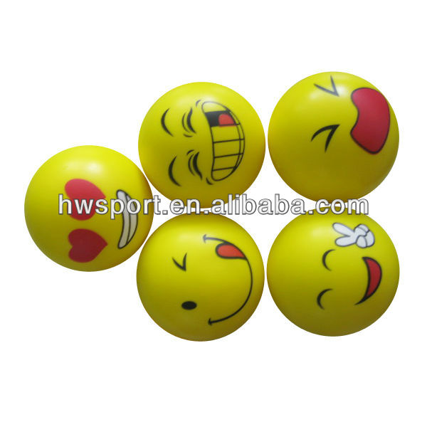 pu smiley ball