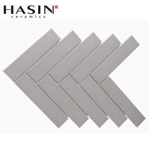 Hasin Bathroom Decoration Polished Herringbone Himalaya White Marble Mosaic Statuary White Marble