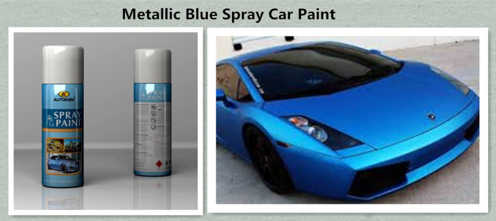 Spray de Pintura Do Carro Azul metálico, pintura metálica automotiva cores amostra grátis made in China