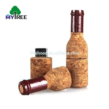 2018 bán Hot 1-64 GB brown mini lụa in logo gỗ U wine bottle USB drive flash disk