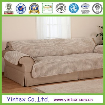 Quilted Microfiber Sofa Cover Pet Dog Kids Furniture Protector