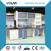 Volab chemistry laboratory furniture with reagent rack