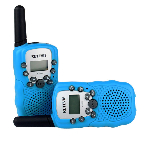 2PCS New Sky Blue Radio Walkie Talkie Pair Retevis RT-388 UHF 446MHz 0.5W 8CH LCD Display Flashlight VOX Two-Way Radio A7027H