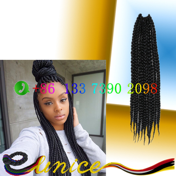 24 Inch Micro Box Braids Hair 3s Pre Twisted Braids Afro Medium