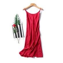 Perfering дамы пикантная обувь для ночного платье крест-накрест сзади искусственный шелк, атлас без рукавов ночные рубашки с v-образным вырезом ...(Китай)