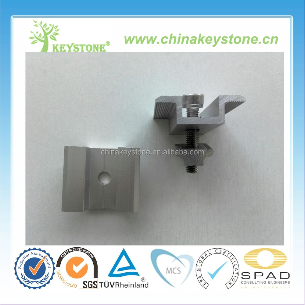 Solar Panel Mid And End Clamp For Pv Solar Mounting
