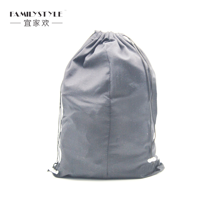 Custom microfiber double string drawstring shoe dust bag