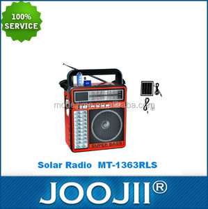 2015 New Super Bass AM/FM/SW1-2 4 BAND Solar Powered Radio WITH USB/SD/TF LED Bulb